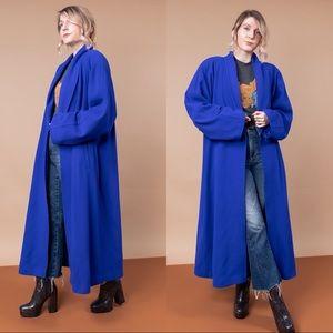 Vtg Louis Feraud wool angora swing duster jacket